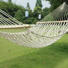 adeco white woven rope outdoor hammock chair with spreader bar hammock