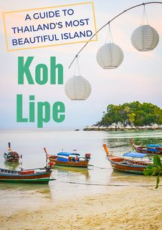 Looking for THE most beautiful island in Thailand? Here's your guide to Koh Lipe, Thailand's best of the best.