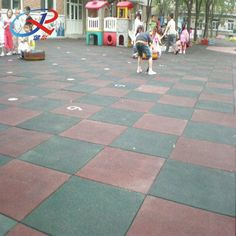 Rubber Flooring for kid play area Rubber Tiles, Rubber Mat, Children Playground, Kids Play Area, Rubber Flooring, Kids Playing, Safety, Yard, Exterior