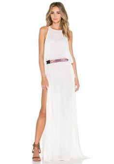 Indah Twiga Open Side Maxi Dress in Ivory | REVOLVE