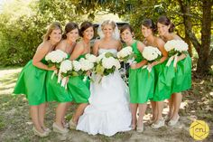 Kelly green bridesmaid dress with nude wedge (I want something a little brighter) but this actually could be good. But this day is long off.