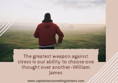 Learn to use your weapon against stress.. your thoughts... Check out our blog for more ideas http://www.capstonecounselingcenters.com/2/post/2017/06/choose-your-thoughts.html