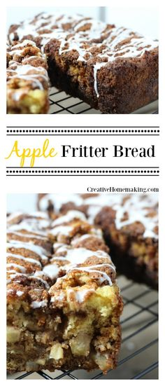 This apple fritter bread is a delicious apple dessert bread for fall or Thanksgiving.