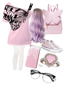 """""""Paint me pink"""" by cowboygal on Polyvore featuring Sophia Webster, Hudson Jeans and Converse"""