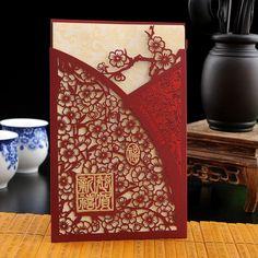 中國風藝術剪紙新年賀卡 精美賀卡手工剪紙祝福賀卡 可打印內頁