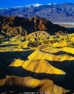 Zabrinski Point view  Death Valley National Park, California  Great Basin  Amargosa Mountains   Morning  March