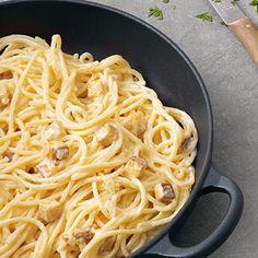 Carbonara mit Räuchertofu Rezept | Küchengötter