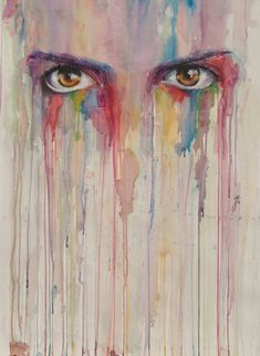 Alluring Watercolor Paintings Prove that Eyes are Windows to the Soul - My Modern Met - By spanish 19 years old artist Jone Bengoa