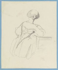 A seated female figure  circa 1855circa 1858 by Empress Friedrich   Royal Collection