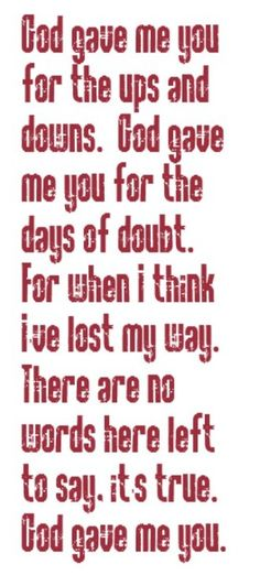 Blake Shelton - God Gave Me You - song lyrics, song quotes, songs, music lyrics, music quotes
