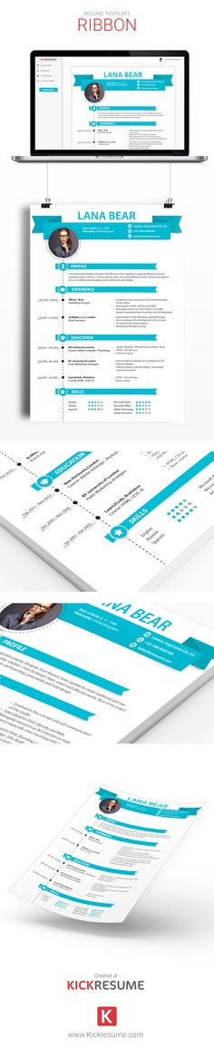 Infographic resume template - Create an awesome resume, cover - creative resume builder