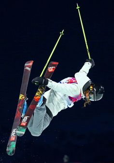 Sabrina Cakmakli of Germany competes in the Freestyle Skiing Ladies' Ski Halfpipe Qualification on day thirteen of the 2014 Winter Olympics at Rosa Khutor Extreme Park on February 2014 in Sochi,. Get premium, high resolution news photos at Getty Images Cycling Quotes, Cycling Art, Ski And Snowboard, Snowboarding, Women's Cycling Jersey, Cycling Jerseys, Winter Olympics 2014, Freestyle Skiing, Ski Jumping