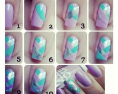 Braided Nails. I tried these; they are easy and fun! (: