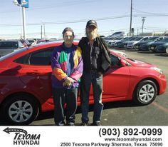https://flic.kr/p/D3VNxB   Congratulations Edna /Larry on your #Hyundai #Accent from Mike Burdette at Texoma Hyundai!   deliverymaxx.com/DealerReviews.aspx?DealerCode=L967