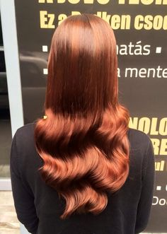 Redken hair color. Pretty Red Hair :)