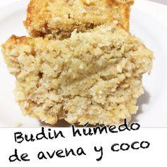 Buen domingo 🙏 💖✨Les dejo esta receta riquísima y muy simple, pueden usar la harina que quieran. Espero les sirva 😘 ✨Budin húmedo de avena y coco✨✏️Vas a necesitar ✔️1 taza y media de harina de avena ✔1 taza de coco rallado ✔1 banana pisada✔️️1 taza de azúcar organica o el endulzante que prefieras ✔️️2 huevos ✔️2 cucharadas de aceite de coco ✔️️✔️️1 chorrito de leche (la que uses) ✔️️esencia de vainilla o coco✔️1 cucharadita de polvo de hornear 📌En un bol mezclar los huevos, el aceite… Healthy Nutrition, Healthy Cooking, Healthy Desserts, Healthy Recipes, Sin Gluten, Cooking Time, Soul Food, Baking Recipes, Bakery