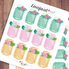 Weekly water stickers for planner hydrate stickers by Lavenforest