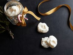 If you haven't heard of aquafaba, prepare to have your mind blown. When whipped, aquafaba (also known as the water from a can of chickpeas) perfectly mimics the texture of egg whites, making it the ideal base for a vegan meringue. These are crunchy, sweet, and just the right amount peppermint-y.