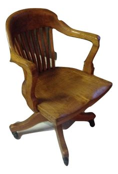 antique solid wood quartersawn oak swivel chair 1920s typewriter bankers office pinterest writing bureau studio ideas and swivel chair