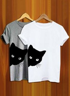 Cat Looking Outside Print Women Tshirt Casual Funny T Shirt for Lady Girl Top - Funny Girl Shirts - Ideas of Funny Girl Shirts - Descrption Special Discounts End Soon! Size Bust Sleeve Length Shoulder cm inch cm inch cm inch cm inch S 88 19 60 38 M 94 20
