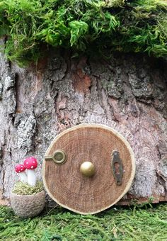 Fairy Garden Door TINY - Round Hill Home Hobbit Inspired Miniature Fairy Garden Accessory
