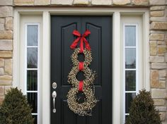 snowman wreath for door | Wreath - Snowman for Christmas - Original Front Door Wreath