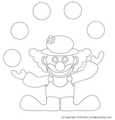 clown coloring pages juggling clown coloring page