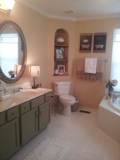 Bathroom redue on a budget.  French Country Home by Christine Antoinette
