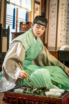 Rookie Historian Goo Hae Ryung behind photos Korean Traditional Dress, Traditional Dresses, Hanfu, Chica Fantasy, Eunwoo Astro, Cha Eun Woo Astro, Korean Hanbok, Human Poses, Handsome Anime