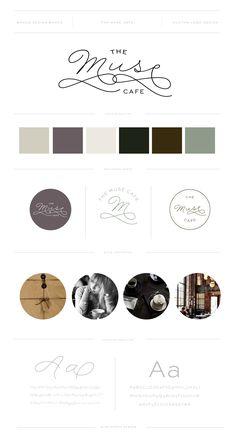 THE MUSE CAFE // Brand and Logo Design by Miss Poppy Design / Coffee Shop / Cafe / Hipster / Modern / Branding / Dapper / Brand Board www.misspoppydesign.com