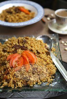 Resep Nasi Mandi dengan Pressure Cooker a la JTT Easy Asparagus Recipes, Easy Asian Recipes, Ethnic Recipes, Rice Recipes, Healthy Recipes, Recipies, Arabian Food, Good Food, Yummy Food