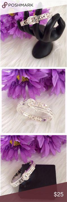 ❤️ Silvertone Buckle Bracelet NIB Silvertone Buckle Bracelet. New in box Jewelry Bracelets