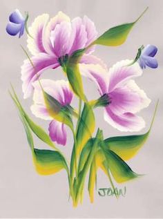 One Stroke Painting of Flowers Course - Fancy Tulips