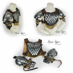 New norse gorget with scale mail and steel shoulder armors!!!. There are two shoulder armors to choose from!!  Available now in my etsy shop!!