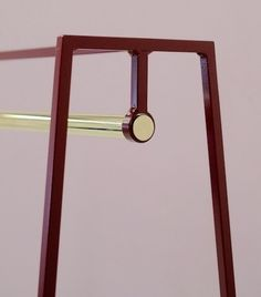 Image of 'A' clothes rail in beetroot by &New