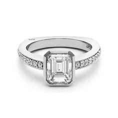 Bezel Set Emerald Cut Diamond Ring