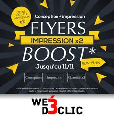 Flyers Boost Conception + impression x2