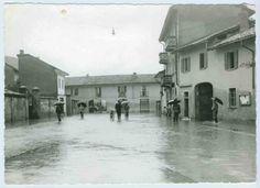 Allagamento della piazza    Cisliano