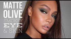 FALL MATTE OLIVE SMOKEY EYE AND FLAWLESS SKIN | SONJDRADELUXE - YouTube