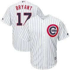Men Chicago Cubs Independence Day Kris Bryant 2017 Stars   Stripes White  Cool Base Jersey Shop Sports Merchandise with Big Discounts at Cheap Jerseys  ... c61142b18