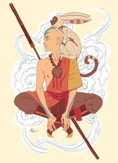 Aang and momo~