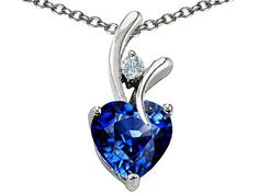 Star K 8mm Heart Shape Love Pendant Sterling Silver * Click on the image for additional details.