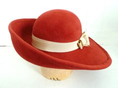 Red Hat Society ~ The Perfect Big Red Velour Felt Woman s Hat ~ Wide Brim  Hat c4053ecea90c