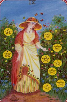 The 176 Best Tarot Nine Of Pentacles Images On Pinterest In 2019