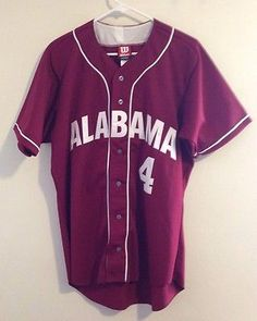 Womens or Mens Alabama Baseball Jersey Shirt Size Large | eBay