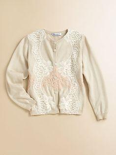Dolce & Gabbana - Toddler's & Little Girl's Lace Silk & Cashmere Cardigan - Saks.com