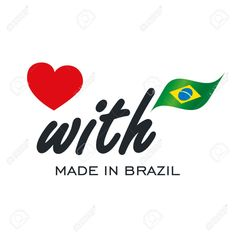 Love With Made in Brazil logo icon Stock Vector - 83018465