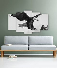 Loving this Bald Eagle Landing Five-Panel Wall Art on #zulily! #zulilyfinds