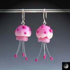 Jellyfish earrings by beadworx