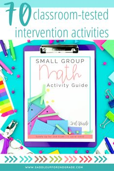 Here's what you'll get inside this FREE Small Group Math Activity Guide: Over 70 classroom-tested intervention activities for EVERY 2nd grade math standard. Easily adaptable activities so you can meet the needs of ALL your students Activities that can be used with materials you ALREADY HAVE laying around your classroom. No need to spend $$$ on more supplies for successful math lessons #tpt #2ndgrademath #tptmath #classroomresources Math Strategies, Math Resources, Kindergarten Math Activities, Teaching Math, Math Stations, Math Centers, 2nd Grade Math, Second Grade, Simple Math